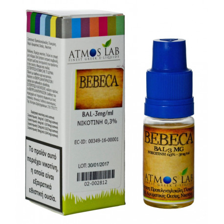 E-líquido ATMOS LAB BEBECA 3mg/ml 10ml