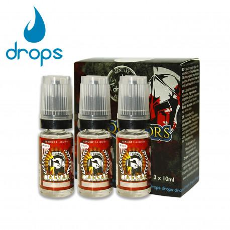 E-líquido DROPS CAESAR 3mg/ml Tripack 3x10ml