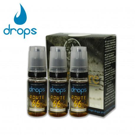 E-líquido DROPS ROUTE 66 12mg/ml Tripack 3x10ml