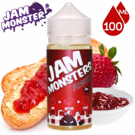E-líquido Jam Monster Strawberry TPD 100ml Sin Nicotina
