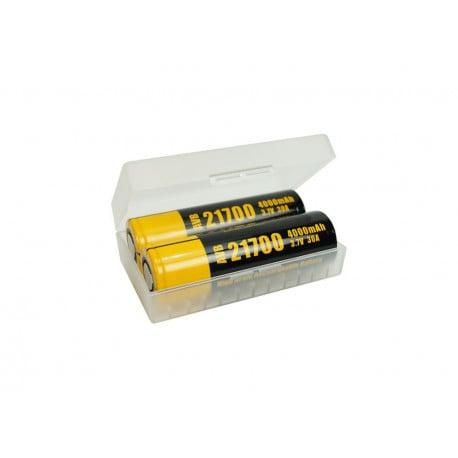 Caja de protección para 2 baterías 20700 / 21700