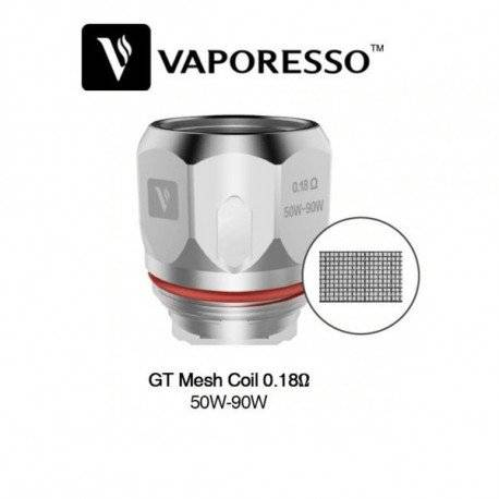 Resistencia Vaporesso GT6 MESH 0.18 Ohm para Cascade y NRG