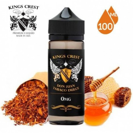 E-líquido King Crest Don Juan Tabaco Dulce TPD 100ml 0mg