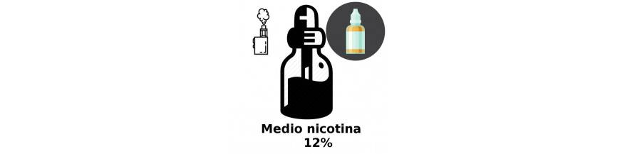 MEDIO NICOTINA LIQUIDO PARA VAPEAR 12mg/ml