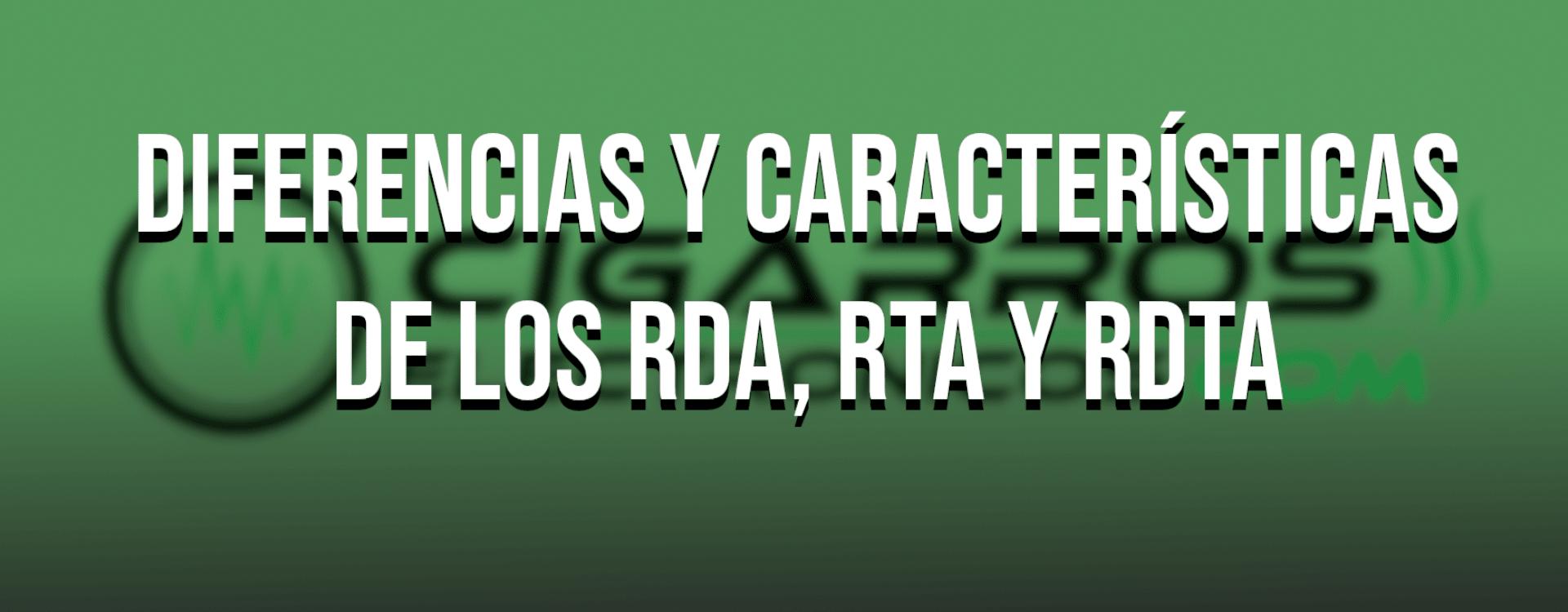 Diferencias entre RDA, RTA y RDTA