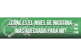 ¿Cual es el nivel de nicotina más adecuado para mi?