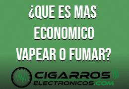 Vaper vs cigarrillo tradicional: Comparativa económica